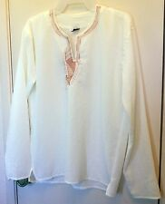 New!! Misbak Off White long sleeve pullover top size 42