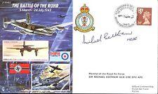 JS50 43/2 SECONDA GUERRA MONDIALE BATTAGLIA DELLA RUHR RAF Copertura firmato mraf Beetham DFC AFC