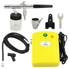 OPHIR Dual-Action Airbrush Compressor Kit  for  Cake Decoration Temporary Tatto