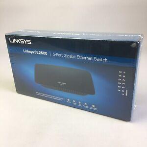 Linksys SE2500 5-Port Gigabit Ethernet Switch 1000Mbps Cisco (2 Pin Plug) NEW