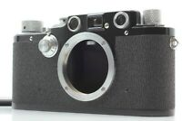 *CLA'd MINT RARE BLACK* LEICA IIIc Sharkskin Rangefinder 35mm Film Camera JAPAN
