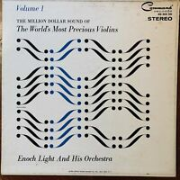 THE MILLION DOLLAR SOUND OF THE WORLD'S MOST PRECIOUS VIOLINS ENOCH LIGHT LP