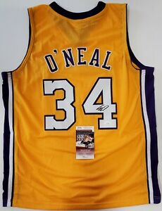 LOS ANGELES LAKERS SHAQUILLE O'NEAL AUTOGRAPHED SIGNED JERSEY JSA COA