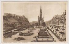 Midlothian postcard - Princes Street, looking West, Edinburgh