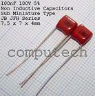 100nF, 0,1uF x 100V 5% Condensatore Poliestere Mylar JB JFH Capacitors 5 pezzi