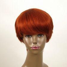 perruque afro femme 100% cheveux naturel courte cuivré intense ref WHIT 05/130