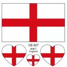 ENGLAND ST GEORGE'S CROSS UK GREAT BRITAIN UNION JACK FLAG TEMPORARY TATTOOS