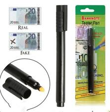 2X Bank Note Tester Pen Money Checking Detector Marker Fake Banknotes Office UK