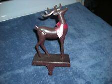 Art Deco Metal Deer Christmas Stocking Hanger