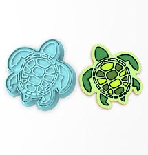Sea Turtle Cookie Cutter & Stamp | Ocean Tortoise Animal Tortuga Summer Beach
