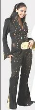 Tabis Elvis Brittany Spears Black Poly Studded Jumpsuit1950's Rock N Roll