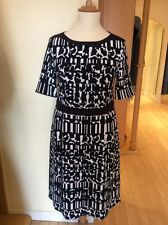 Betty Barclay Dress Size 18 BNWT Navy And Cream, Pleat Details RRP £140 NOW £63