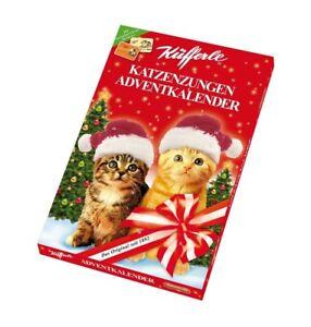Küfferle Adventkalender, 100g Adventskalender Katzenzungen