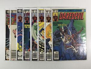 Daredevil #159,160,161,162,163,165,173,175 (Marvel Comics) 8 issues Frank Miller
