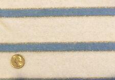 "New listing vintage Stretch Terrycloth Blue & Gold Glitter Horizontal Stripes 1.5 yd x 66"" W"