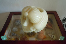 Rare Seashell Candle Art Deco Candle Sculpture Faberge Egg Yankee Candle Scallop