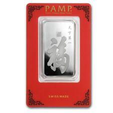 Lingot Suisse PAMP 1 Once argent pur 999 / TRUE HAPPINESS 1 Oz Fine Silver Bar