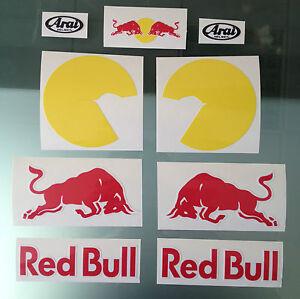 Dani Pedrosa Race Helmet Decal Stickers - Complete Sticker kit for Arai RX-7 GP