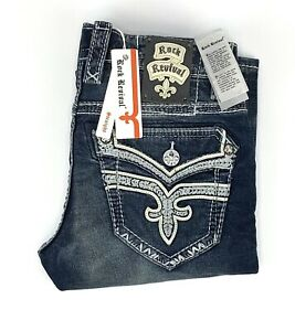 Rock Revival Bonakk Straight Leg Stretch Denim Jeans Mens Size 30 RRP$169