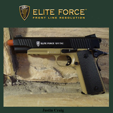 Elite Force 1911 Co2 GBB Full metal TAC Airsoft gun pistol dark earth FREE SHIP