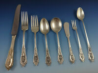 Rose Point by Wallace Sterling Silver Flatware Set For 8 Service 75 Pieces