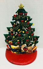 "8 1/4"" Midwest Cast Iron Christmas Tree Toys Door Stop Midwest of Cannon Falls"