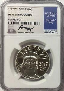 2017-W 1 oz Proof Platinum American Eagle NGC PF70 UCAM Edmund C. Moy
