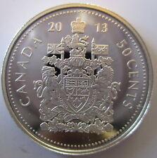CANADA 2013 50 CENTS 99.99% PROOF SILVER HALF-DOLLAR HEAVY CAMEO COIN