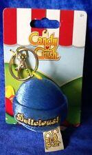 Candy Crush Saga Plush Key Ring Key Chain Blue Round Candy Delicious! New