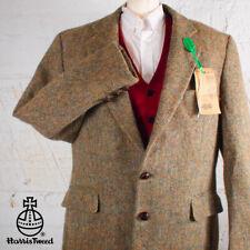 46R HARRIS TWEED Blazer Jacket Coat - Green Brown Plain Hacking Hunting #671