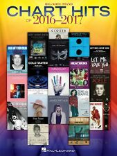Chart Hits of 2016-2017 Sheet Music Big Note SongBook New 000225440