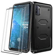 For Samsung Galaxy Note 10 Plus Case Cover Armor With HD Glass Screen Protector