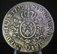 1 ECU, Louis XVI, 1782Q, Very Large 41.5 mm SILVER Coin