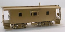HO BRASS OMI CHICAGO SOUTH SHORE & SOUTH BEND STEEL BAY WINDOW CABOOSE W/4 STEPS