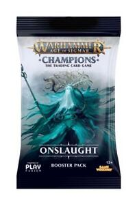 Warhammer Age of Sigmar: Champions - Wave 2: Onslaught Booster Pack - Englisch