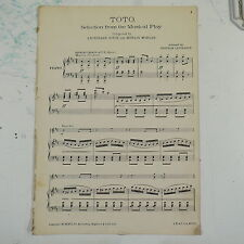 piano selection TOTO joyce & morgan arr lestrange , 18pages , covers missing