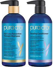 PURA D'OR Dor Hair Loss Shampoo Shampoo and Healing Conditioner IMPROVED PUMPS