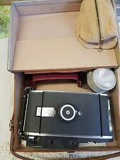 Vintage 1950s Polaroid Model 110A Land Camera Awesome With Carrying Case  +More