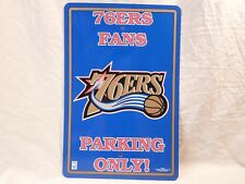 Philadelphia 76ers *Fans Parking Only* Sign Wall Garage NBA Sixers Basketball