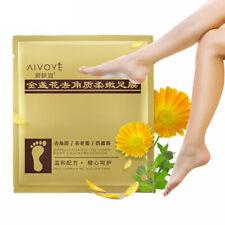 2 pair Foot Mask Gold Moisturizing Socks Exfoliating Feet Nourishing