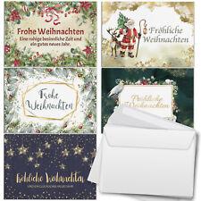 30 Weihnachtskarten (5x6) im Set Umschlag Set Grußkarten Weihnachten Mix 2