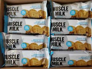 (SEE DETAILS) 48x Muscle Milk Protein Bar Peanut Butter Cookie Energy Protein