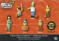 THE SIMPSONS FIGURE CHARM COLLECTION 1 HALLOWEEN SERIES COMPLETE SET VHTF RARE