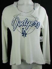 LA Dodgers Women's Touch MLB Long Sleeve Pullover Knitted Sweatshirt In Cream