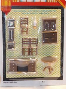 Dollhouse Miniature Dining Room 1:48 Quarter Inch scale 1/4 Y10 Dollys Gallery