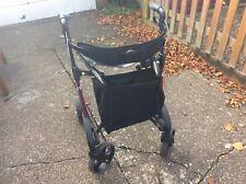 Ultra Lightweight Rollator Wheeled Walking Aid Frame 4 Wheel Mobility Walker.