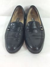 Bally Rolo Black Slip On Leather Loafers Size US 8 D Made in Italy