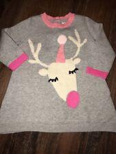 Baby Gap 3-6 Months Reindeer Sweater Dress New Holiday