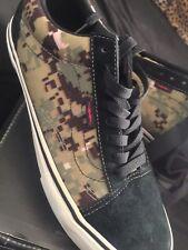 NEW Vans Syndicate x Defcon Old Skool Pro S Olive Black Sz 9 Camo