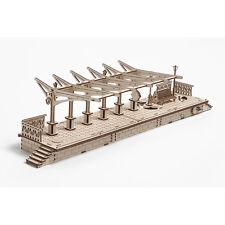 MECHANICAL 3D MODEL WOODEN PUZZLE MODEL RAILWAY PLATFORM UGEARS